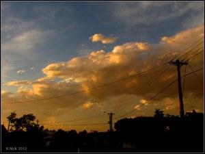 hurrying towards sunset