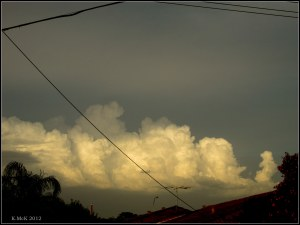 storm clouds in the east