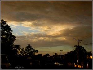 stormy sky with virga