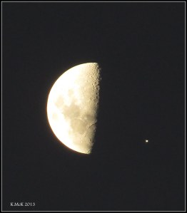 tonight's moon with jupiter in attendance