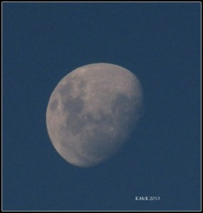 this evening's moon