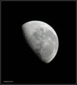 this morning's moon