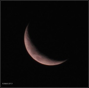this evening's moon_coloured by sunset