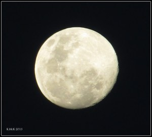 tonight's evening moon