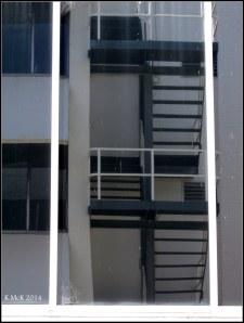 stairs ina widow